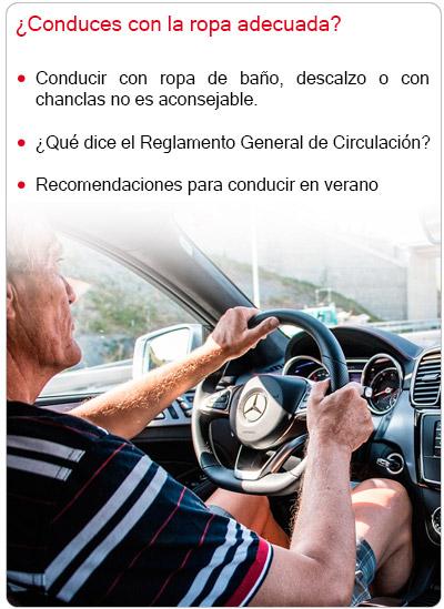 ¿Conduces con la ropa adecuada?
