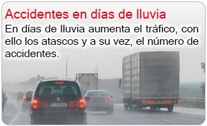 Accidentes en días de lluvia