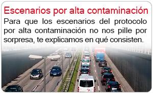 Escenarios por alta contaminación
