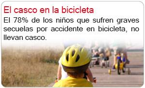 El casco en la bicicleta