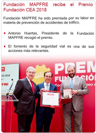 Fundación MAPFRE recibe el Premio Fundación CEA 2018