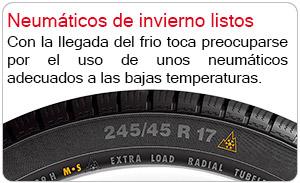 Prepara tus neumáticos de invierno